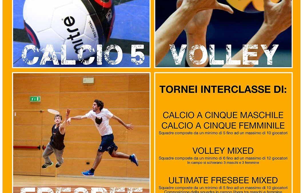 CSS – Centro Sportivo Studentesco – Al via tornei di CALCIO a 5, PALLAVOLO, FRESBEE