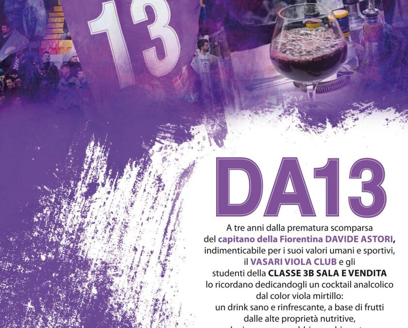 DA13: dal Vasari un drink speciale in onore e memoria di Davide Astori