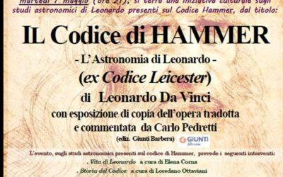 IL CODICE HAMMER – L'Astronomia di Leonardo